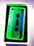 Custodia morbida gel iphone 4 4S audiocassetta verde fluo