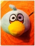 PUPAZZO PELUCHE ANGRY BIRDS + VENTOSA 10 CM CELESTE NEWS TRATTO