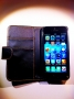 cover custodia per iPhone 5 colore nero portadocumenti