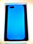 custodia morbida per Apple iPhone 5 colore blu opalizzata new