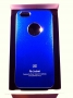custodia rigida per Apple iPhone 5 colore blu metallizzato