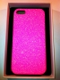 custodia rigida per Apple iPhone 5 colore rosa glitter