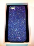 custodia rigida per Apple iPhone 5 colore blu glitter