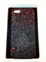 custodia rigida per Apple iPhone 5 colore nero glitter