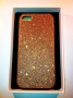 custodia rigida per Apple iPhone 5 colore dorato glitter