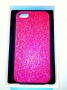custodia rigida per Apple iPhone 5 colore fucsia glitter