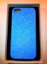 custodia rigida per Apple iPhone 5 colore azzurro glitter