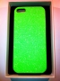 custodia rigida per Apple iPhone 5 colore verde glitter