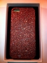 custodia rigida per Apple iPhone 5 colore miele glitter