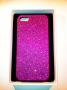 custodia rigida per Apple iPhone 5 colore viola glitter
