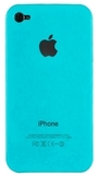 cover rigida Iphone 4 4S colore celeste